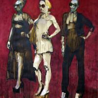 Mannequins op rij I ( gemengd ) 50 x 50 cm