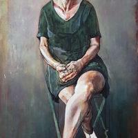 Vrouw met ringen (gemengd) 75 x 105 cm